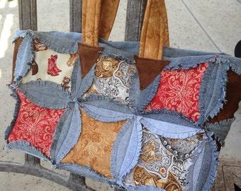 Cowgirl Denim Handbag REDUCED
