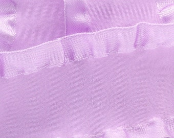 "7/8"" Satin Double Ruffle Ribbon - Light Orchid 3yds"