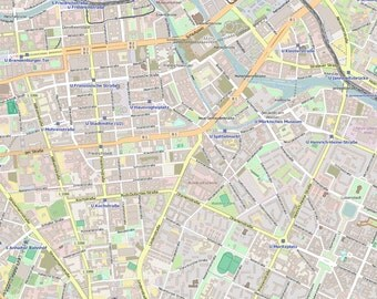 Editable City Map of Berlin