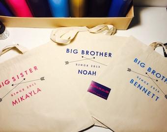 Big Sister Hospital Bag/Big Sister Tote Bag/Big Sister Bag/Big Sister/Pregnancy Announcement/Gift Ideas/Big Sister/Hospital Bag/Hospital