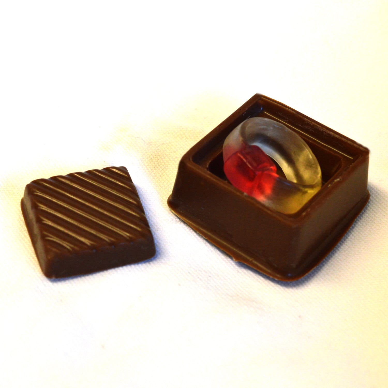 Chocolate Engagement Ring Box Ring Box Handmade Gifts