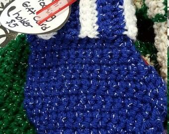 Handmade Mini-stocking Gift Card Holder