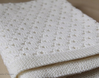 Trillium - A knitting pattern for a baby blanket in 4ply or DK weight yarn.