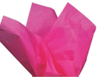100 Sheets Hot Pink 15inch x 20inch Gift Wrap Tissue Paper