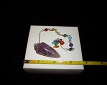 Reiki~Charged~Amethyst Pendulum~Violet Flame Energy Pendulum
