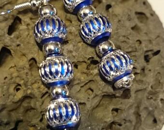 Blue Sapphire Aluminium Bead Earring #23