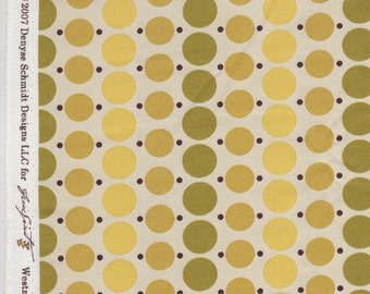 FQ - County Fair Dottie in Mustard / Denyse Schmidt for Free Spirit Fabrics / Cotton Canvas HDDS03