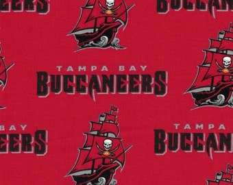 Tampa Bay Buccaneers Fabric- NFL - 100% Cotton High Quality Fabric- by Fabric Traditions