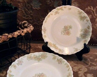 "Limoges Haviland & Co. ""The Countess"" Coupe Soup Bowls"