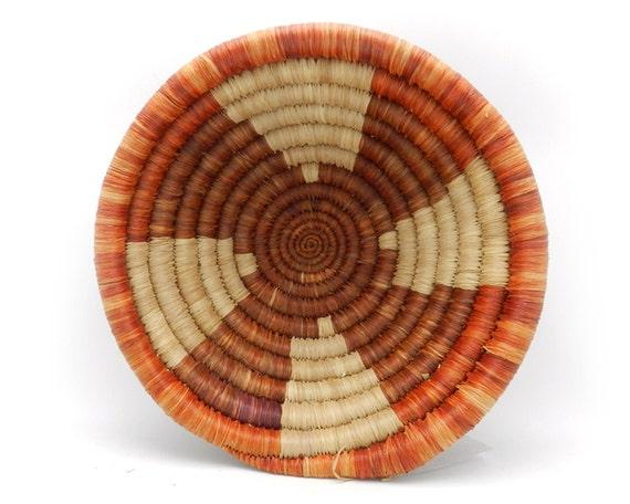 Handwoven Basket African Basket Fruit Bowl Made In Rwanda