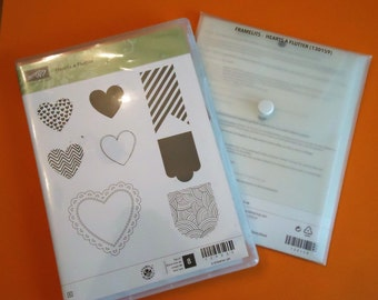 Stampin Up Hearts of Flutter rubber stamps/dies