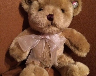 Hand-decorated Vintage-look Teddy Bear