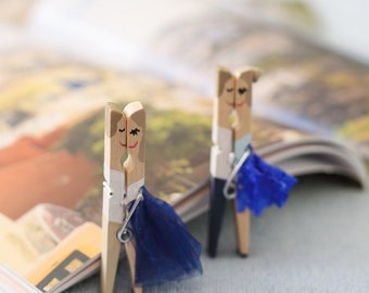 original handpainted clothespins for both gorgeous gift