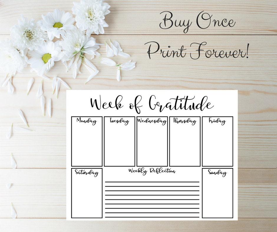 Gratitude Journal Prayer Journal Pages Planner Inserts – Gratitude List Worksheet