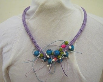 Spring/summer handknitted necklace