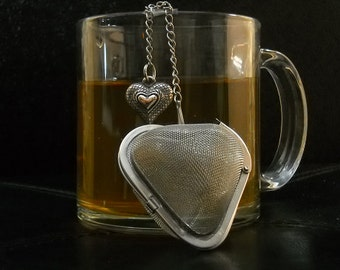 Heart Shaped Tea Infuser/Steeper with bubble heart charm