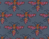 Clearance! 40% Off FQ Cotton and Steel MUSTANG BEES Quilting Cotton Fabric in Gray 0004-002