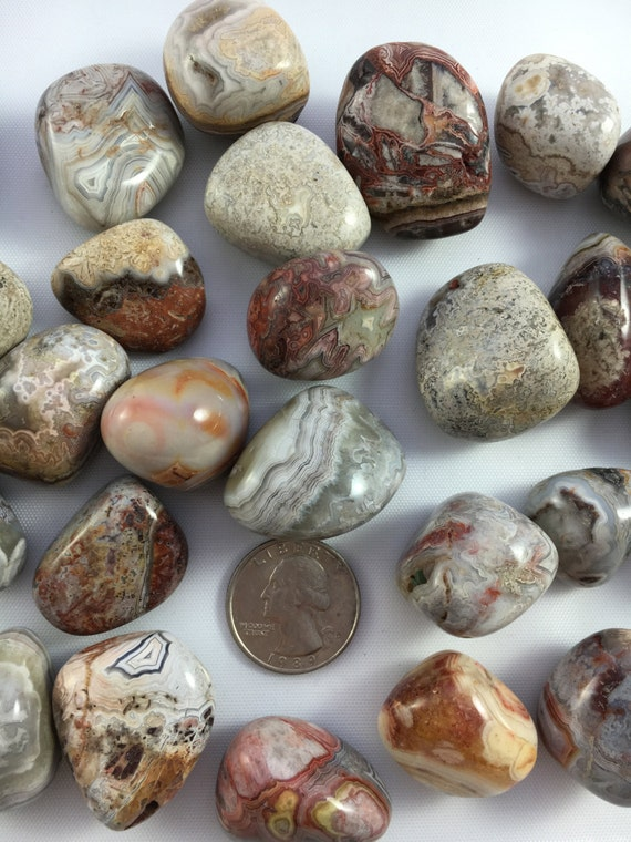 Beautiful Tumbled CRAZY LACE AGATE Healing Gemstone// Tumbled Stones// Healing Crystals// Healing Tools// Agate// All Chakras// from Mexico