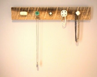 Reclaimed Wood / Barn Board Jewelry and Scarf Rack (V1)
