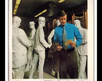 "Vintage Print Ad December 1969 : Van Heusen Fashion Clothing Wall Art Decor 8.5"" x 11"" Advertisement"