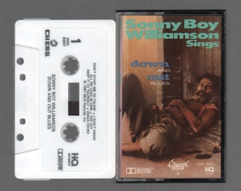 Vintage Cassette Tape : Cassette Tape - Sonny Boy Williamson - Sings Down And Out Blues MCA CHC-9257