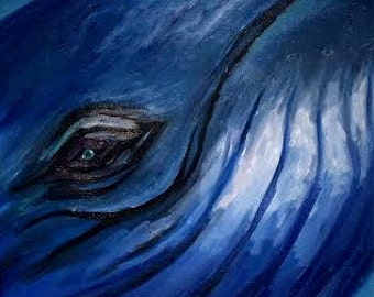 Whale Eye Oil Painting