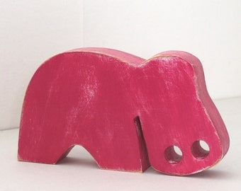 Hippo wooden customizable color - mylittledecor - minimalist animals - minimalist decoration