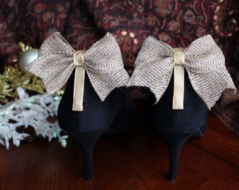 Adorable Burlap with Gold Detail Bow