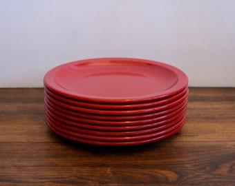 9 Vintage Texas-Ware Melmac Salad / Dessert / Side Plates
