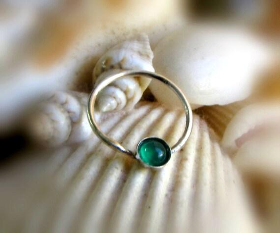 Septum ring emerald septum hoop unique nipple jewelry for Pierced nipple stretching jewelry
