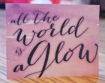 All the World Aglow / Christmas / Holiday Note Card