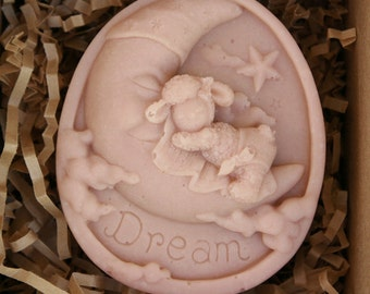 Just Dreamy (Pink) - UNSCENTED Sheep Milk Soap