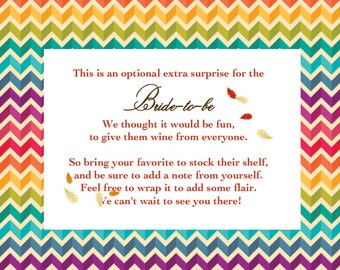 Additional Poem cards for Fall in Love Bridal Shower
