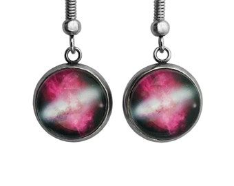 NASA Photograph Red Galaxy Earrings