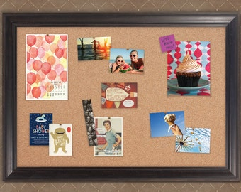 Provence Black Framed Cork Board