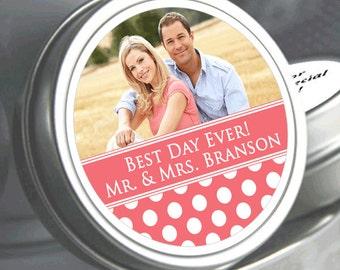 Wedding Favors - 12 Photo Mint Tins - Wedding Mint Tins - Wedding Decor - Wedding Mints - Mint To Be Tins - Bridal Shower Mints