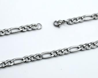 """1PC/5PCS 5.5mm Stainless Steel Figora Chain Necklace, Ready to Use Jewelry Supply, length 22""""/24""""  Bulk Sale"""