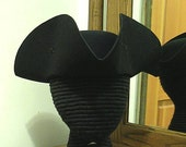 Laced Tricorn #1 - Cocked Felt Hat - Colonial Tricorne - Revolutionary