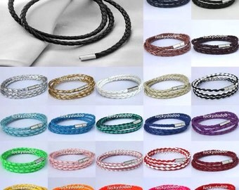 Faux leather bracelets - only one in each color