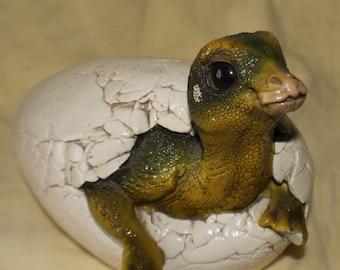 Windstone Edition Hatchling Sculpture Baby Dinosaur Egg 1989 Pena 89 Large Heavy