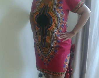Dashiki shirt dress, Size 14