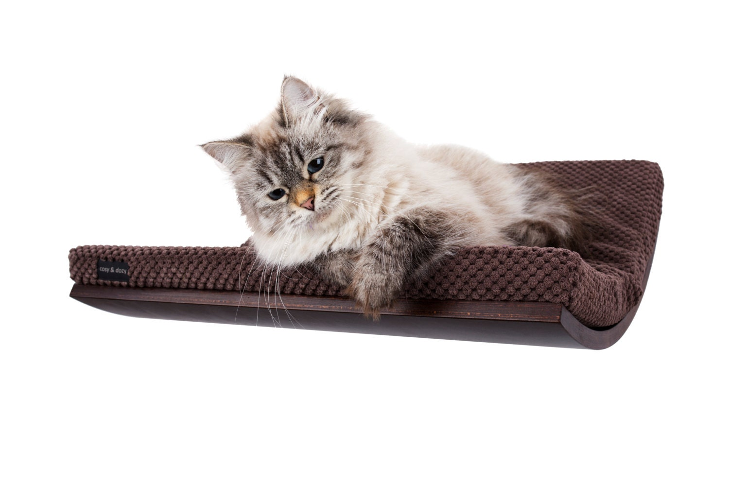 curve cat bed wall mounted cat bed cats beds best by cosyanddozy. Black Bedroom Furniture Sets. Home Design Ideas
