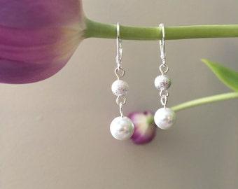 Sparkley pearl drop earrings