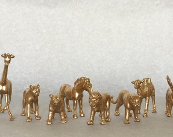 Gold, Silver Metallic Animals - Safari Chic - Birthday - Wedding - Shower - Nursery - Decor - Party Decor - Party Favors - Cocktail Stirrers