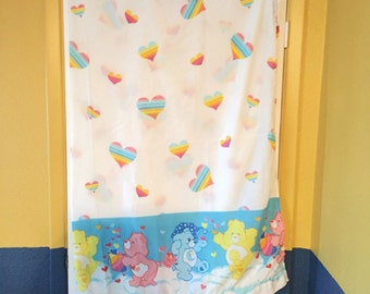 Carebears Twin Bed Sheet Fabric For Crafting