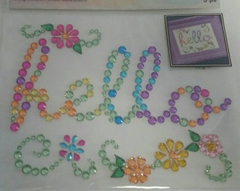 Recollections Bling Stickers Color Splash - Hello