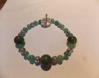 Beaded bracelet,hand made w/ Chrysotine