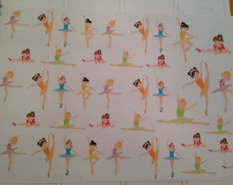 Set of ballet stickers -  for your EC, PP, filofax, planner