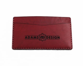 Burgundy Leather Card Wallet
