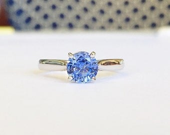 1.20ct Blue Sapphire Solitaire Ring